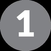 number 1 in grey circle